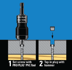 PRO PLUG Integrated Plug System for PVC  stainless steel