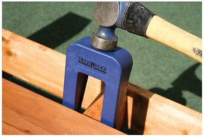 Deckwedge Tool For Crowned Decking Deck Board Spacing